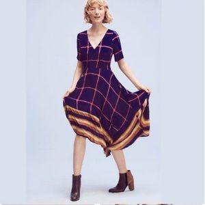 HD in Paris Anthropologie Stripe Pane Midi Dress